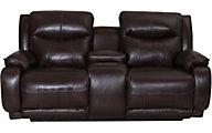 Southern Motion Velocity Leather Power Headrest Loveseat