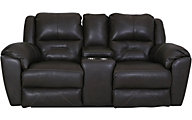 Southern Motion Pandora Leather Power Motion Console Loveseat