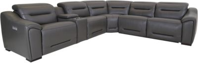 Southern Motion Grand Finale 6-Piece Leather Sectional
