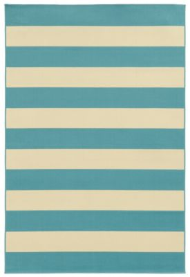 Sphinx Riviera Blue 5' X 8' Outdoor Rug