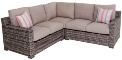 South Sea Rattan Java Outdoor 3-Piece Sectional With Square Corner