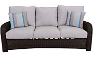 South Sea Rattan St. Tropez Tobacco All-Weather Outdoor Sofa