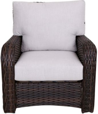 South Sea Rattan St. Tropez Tobacco All-Weather Outdoor Chair