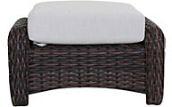South Sea Rattan St. Tropez Tobacco All-Weather Outdoor Ottoman