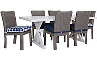 South Sea Rattan St Tropez 7-Piece Outdoor Dining Set