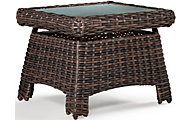 South Sea Rattan St. Tropez Tobacco All-Weather Outdoor End Table