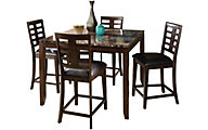 Standard Furniture Bella Counter Table & 4 Stools