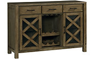 Standard Furniture Omaha Grey Buffet with Wine Rack