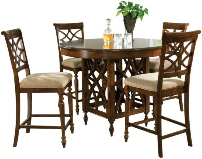Standard Furniture Woodmont Counter Table & 4 Stools