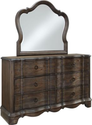 Standard Furniture Parliament Dresser with Mirror