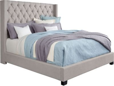 Standard Furniture Westerly Grey King Upholstered Bed