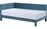 Standard Furniture Ryleigh Teal Upholstered Corner Bed