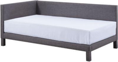 Standard Furniture Ryleigh Charcoal Upholstered Corner Bed