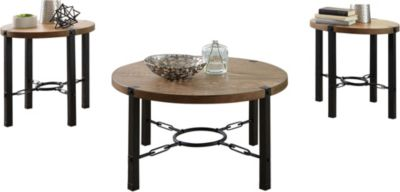 Standard Furniture Laredo Light Coffee Table & 2 End Tables