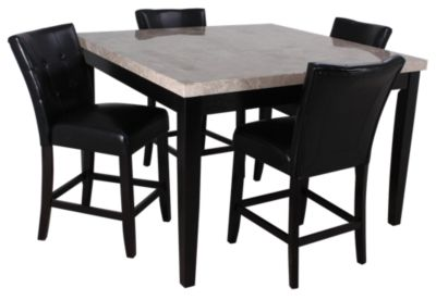 Beau Steve Silver Monarch Counter Table U0026 4 Stools
