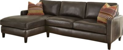 Steve Silver Anguilla 100% Leather 2-Piece Sofa Chaise
