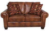 Steve Silver Silverado 100% Leather Loveseat