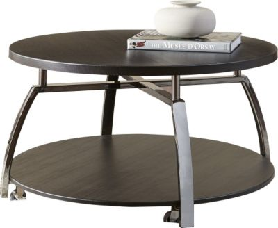 Steve Silver Coham Round Coffee Table with Casters
