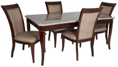 Steve Silver Marseille Marble Top Table 4 Chairs