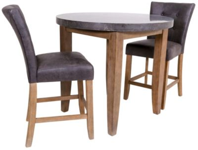 Steve Silver Debby Bluestone Counter Table & 2 Stools