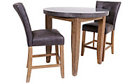 Steve Silver Debby Bluestone 3-Piece Counter Table Set