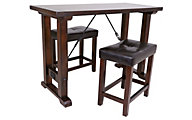 Steve Silver Colin Counter Table & 2 Stools Set