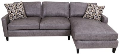 Steve Silver Alder 100% Leather 2-Piece Sectional