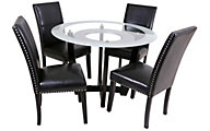 Steve Silver Verano Glass Table & 4 Chairs