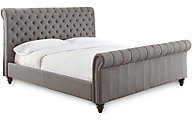 Steve Silver Swanson Gray Queen Upholstered Bed