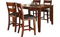 Steve Silver Mango Counter Table & 4 Stools