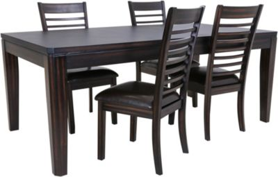 Steve Silver Ally Table & 4 Side Chairs