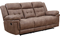 Steve Silver Anastasia Brown Reclining Sofa