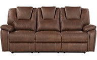 Steve Silver Katrine Brown Reclining Sofa