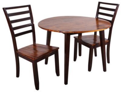 Steve Silver Abaco 3-Piece Drop Leaf Table Dining Set