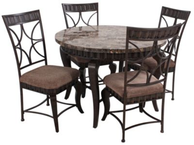 Steve Silver Hamlyn Table & 4 Chairs | Homemakers Furniture