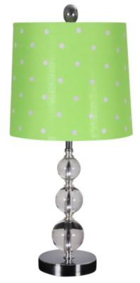 Stylecraft Green Polka Dot Lamp