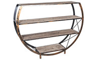 Stylecraft Circle Etagere Bookcase