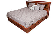 Surewood Oak Mission Queen Storage Bed