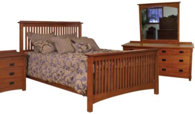 Surewood Oak Mission 4 Piece Queen Bedroom Set