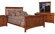 Surewood Oak Mission 4-Piece Queen Bedroom Set