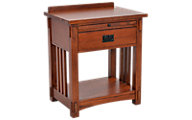 Surewood Oak Mission 1-Drawer Open Nightstand