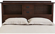 Surewood Oak Chocolate Queen Bookcase Headboard