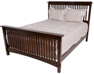 Surewood Oak Chocolate Queen Bed