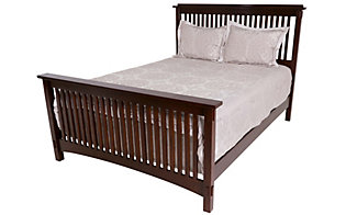 Surewood Oak Chocolate King Bed