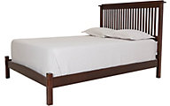 Surewood Oak Chocolate King Low Profile Bed