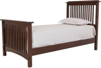 Surewood Oak Chocolate Twin Bed
