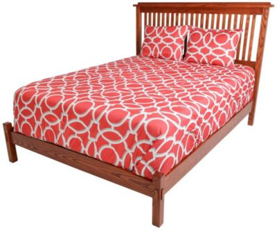 Surewood Oak Mission King Low-Profile Bed
