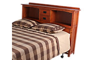 Surewood Oak Mission King Bookcase Headboard