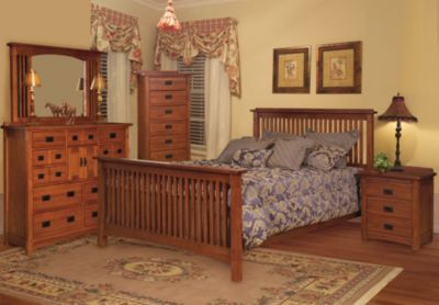 Surewood Oak Mission 4-Piece King Bedroom Set