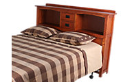 Surewood Oak Mission Queen Bookcase Headboard